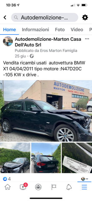 Ricambi Bmw X1 2011 tipo motore N47D20C